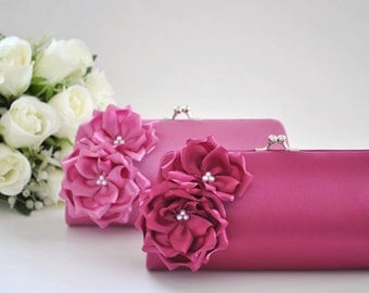 Orchid / Royal Purple - Bridesmaid Clutch / Bridal clutch - Choose the color you like