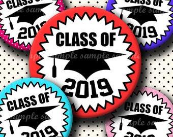 INSTANT DOWNLOAD Class Of 2019 (637) 4x6 Bottle Cap Images Digital Collage Sheet for bottlecaps glass tiles hair bows .. bottlecap images