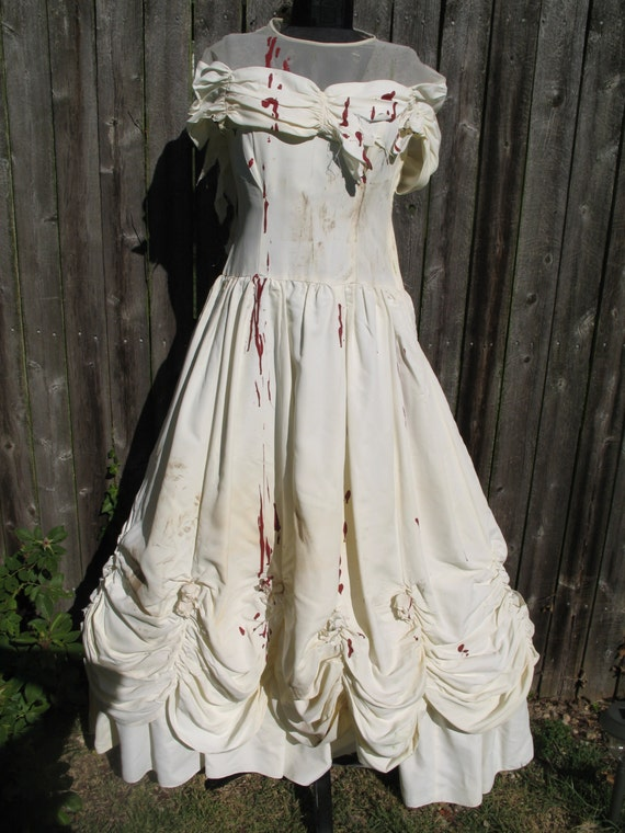 1940's Halloween Costume, Bloody Bride of Frankenstein, Zombie