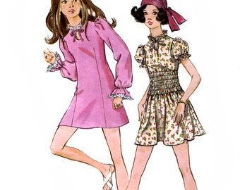 Butterick 5736 Young Junior or Teen Dress Sewing Pattern - Uncut - Size 13/14 - Bust 33.5