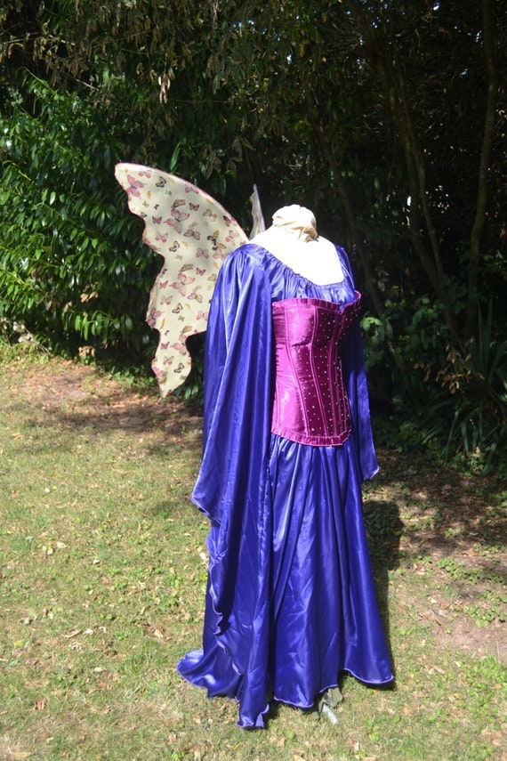 BUTTERFLY YELLoW Ready made PIXiE FAiRY WiNGS Mother Nature garden flower cosplay Adult Child costume steampunk OOAK Gypsy faerie fey larp