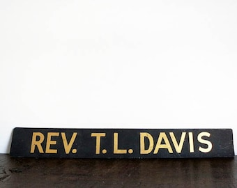 Antique Hand Painted Reverend Sign