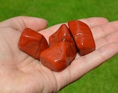 X Large Tumbled Red Jasper Crystal- Tumbled Red jasper - -Wire Wrapping, Jewelry, Feng Shui, Reiki Crystal Healing - BeautySuppliesLand