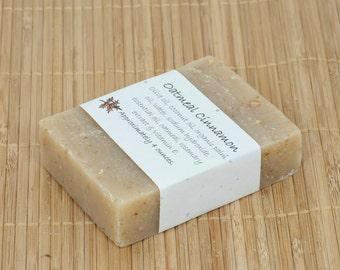 Oatmeal Cinnamon Essential Oil Soap, 4 Ounces
