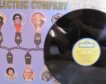 "Vintage ""The Electric Company"" Vinyl Record Album - 1974 - Children's Television Workshop - Sesame Street - Victor Borge - Mel Brooks"