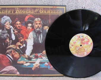 "Vintage 70's Kenny Rogers' ""The Gambler"" Vinyl Record Album 1978 - Country Music - Liberty Records - 70's Vinyl - Country Western Album"