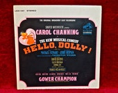 HELLO DOLLY -  The Broadway Cast Recording - 1964 Vintage Vinyl Gatefold Record Album