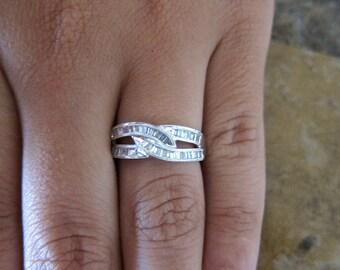 18K White gold diamond Band.