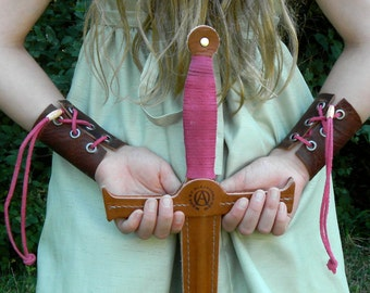 Wrist Cuffs - Handmade Leather