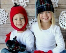 Snow Day Fleece Hat and Mittens: Winter Hat Pattern, Fleece Hat Pattern, Mittens Pattern
