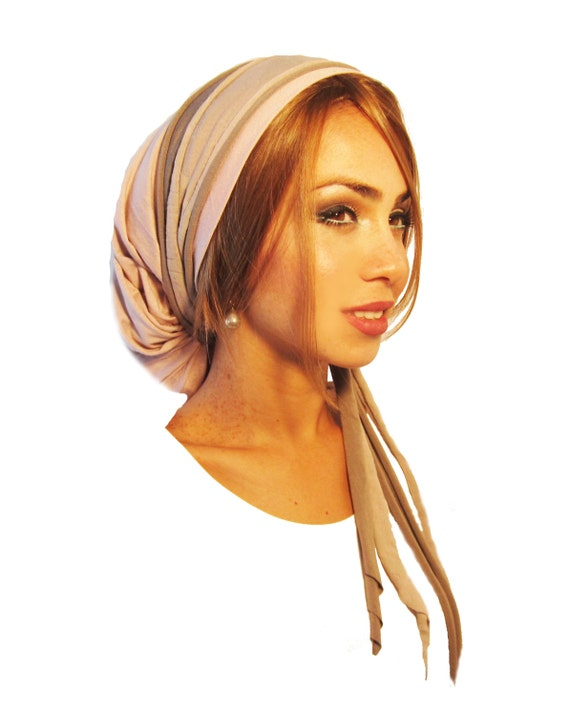 Tichel Hair Snood Head Scarf Pre Tied Bandana Alternative