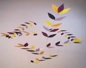 Harlequin Bird of Paradise Leaf Mobile