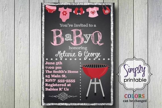 BabyQ Shower Invite