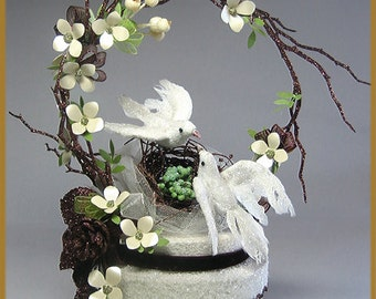 "Woodland ""Love Birds"" Wedding Cake Topper"