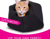 Provide Your Own Fabric Custom Cat Ball a Modern Cave Bed for Your Kitty