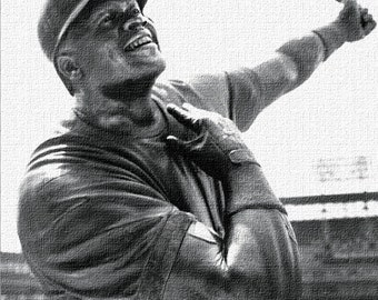 Chicago White Sox Art / U.S. Cellular Field Thomas Statue as Canvas Art