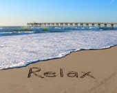 Relax Sand Writing