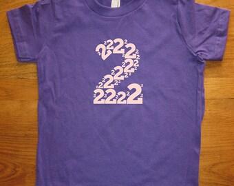 Birthday Shirt - 2 year old shirt - 2nd Birthday - Number Shirt - Birthday Boy, Birthday Girl - Party - Kids Tshirt Size 2 - Gift Friendly