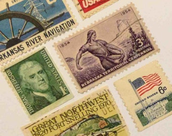 United States Stamp Cards with hand made envelopes - Blank