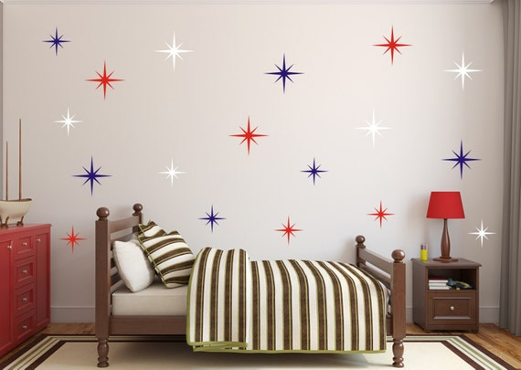 Nautical Stars Vinyl Decal Baby Boy Nursery
