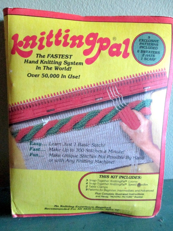 Knitting Pal - Knitting Kit- Kit Loom, Needle, and Clamps with Patterns - Learning Kit
