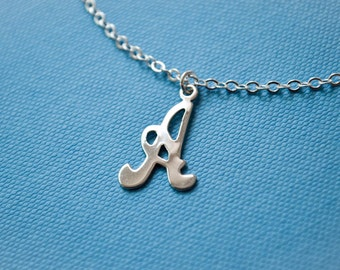 Initial A Necklace ~ Monogram Necklace ~ Letter A ~ Vintage Initial Charm ~ Monogram Jewelry ~ Initial Jewelry ~ Letter Necklace ~ Gift