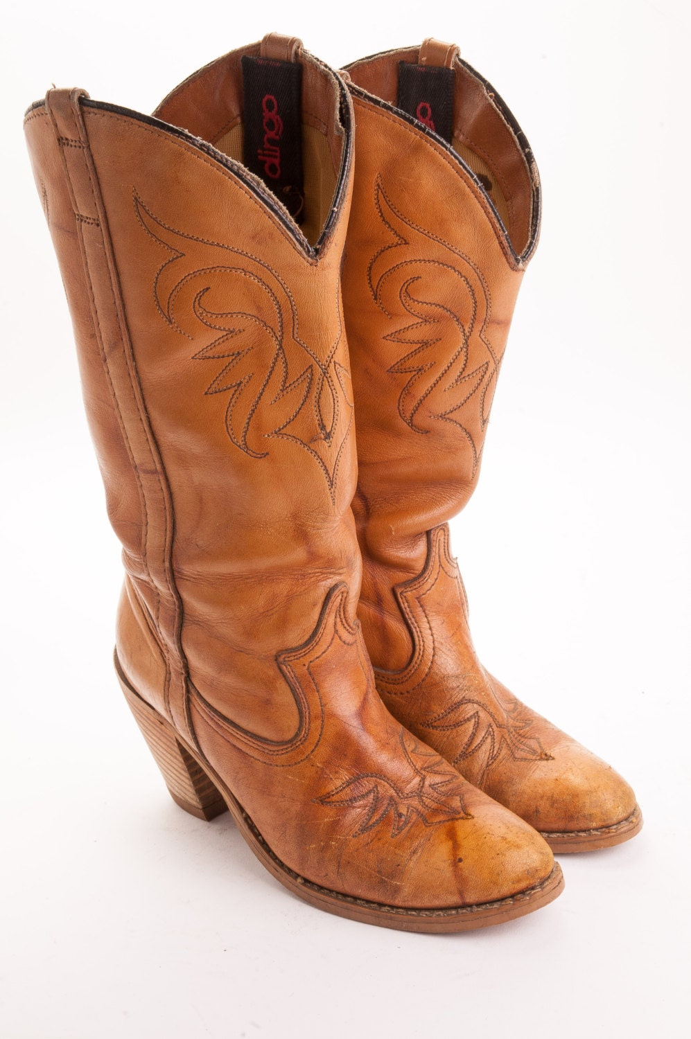 high heeled womens cowboy boot by dingo s size 6m