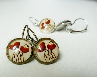 Earrings Perfect Poppies - Vintage Inspired