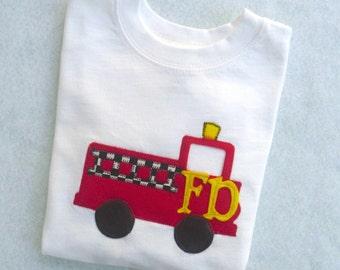 Fire truck T shirt / Toddler Boy