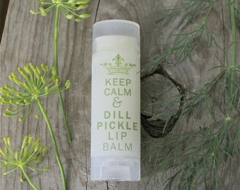 Dill Pickle Lip Balm, Unique Gifts for Women, Dill Pickle Chapstick gift for her Pregnancy gifts Novelty and Gag Gifts a little something