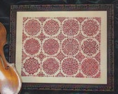 Reserved for Sharra - Rosetta by Ink Circles counted cross stitch patterns geometric sampler monochromatic hand embroidery