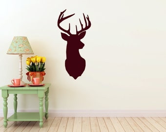 Deer vinyl Wall DECAL- Animal stag, hunting trophy, room, home and business decor