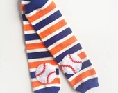 Baseball Baby Leg Warmers Team Colors