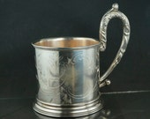 RUSSIAN PODSTAKANNIK 84 SILVER - tea glass holder -1900 - antique -  czar - imperial russia - silber  No.001801 cs