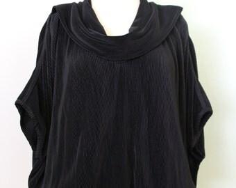Black Textured Blouse
