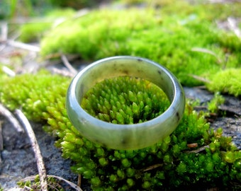 Big Sur Jade Ring: Size 6