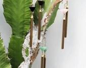Rose Quartz Shriner's Fez Mini Tassel Earrings