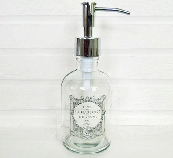 Large Glass Soap Dispenser Recycled Glass Soap By