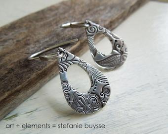 ARTisan Made Soulful Blossom Earrings - Sterling Silver - OOAK