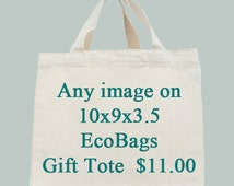 Any Image on EcoBags 10x9x3.5 Gift tote