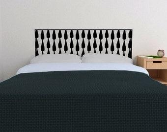 Ink Wells Headboard decal  | Vinyl wall sticker decal | Trendy Bedroom Decor | FREE SHIPPING