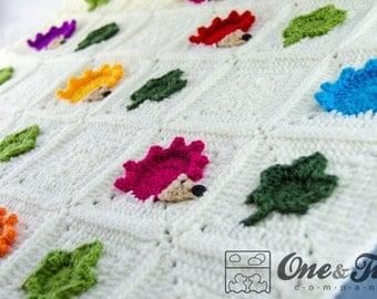 Colorful Hedgehog Blanket - PDF Crochet Pattern - Instant Download - Blankie Baby Blanket