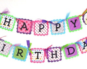 Alice In Wonderland Themed Happy Birthday Banner
