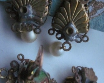 Antique Shabby Chic Earring Finding