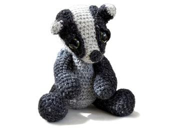 Amigurumi Badger Crochet Pattern PDF Instant Download - Ambrose