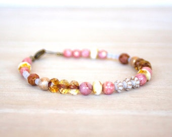 Czech Glass Beads beaded Bracelet