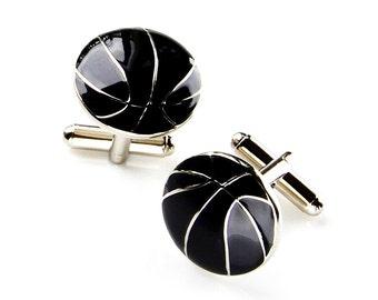 Basketball Cufflinks - Groomsmen Gift - Men's Jewelry - Gift Box Included