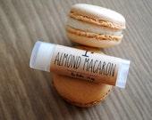 Almond Macaron Lip Balm, Beeswax, Cocoa Butter, Almond Oil