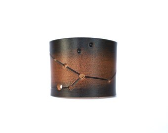 Taurus leather wrist cuff