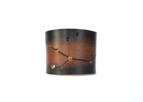 Taurus leather wrist cuff